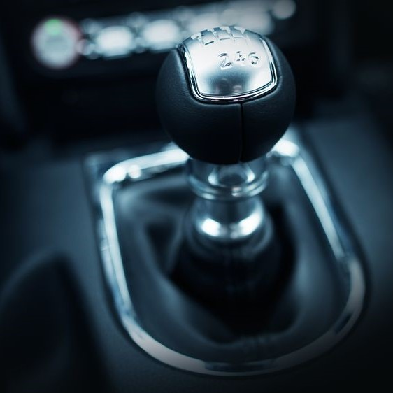 Stick shift of a manual transmission car