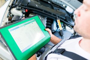 Mechanic Performing Diagnostic