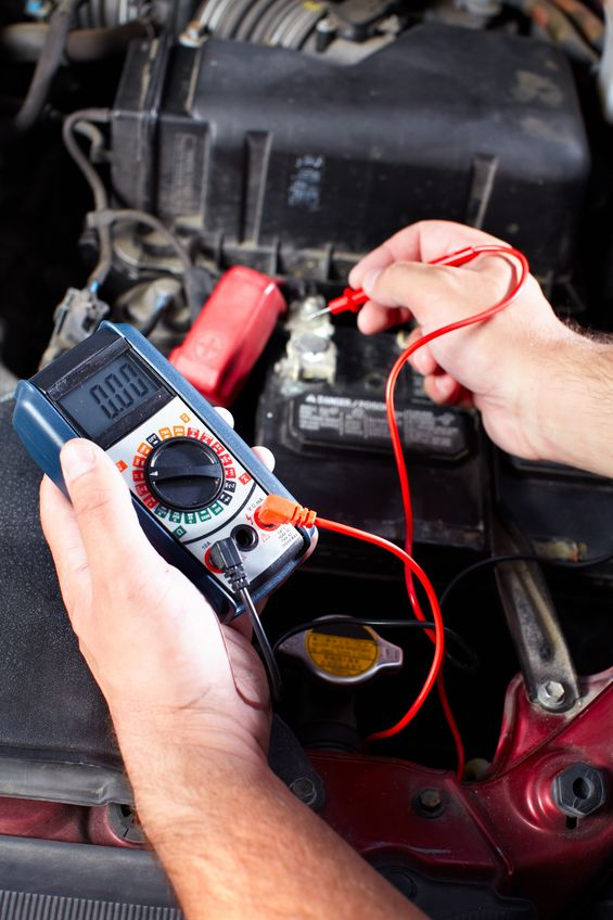 battery check for engine repair