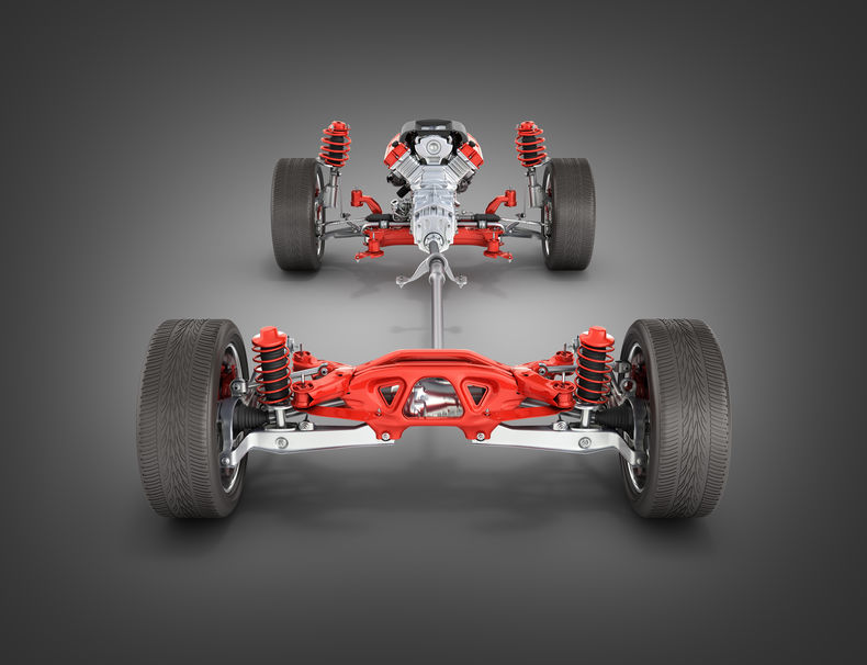 Full Shot of What a Car Suspension Looks Like